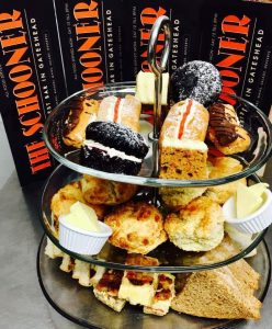 Come and enjoy a Schooner Afternoon Tea.  Please ring to book available everyday except Sunday. 12.95  14.95 with prosecco