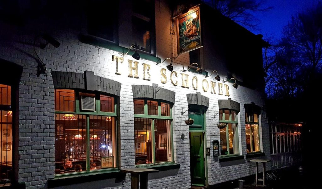 The Schooner Pub Exterior Night
