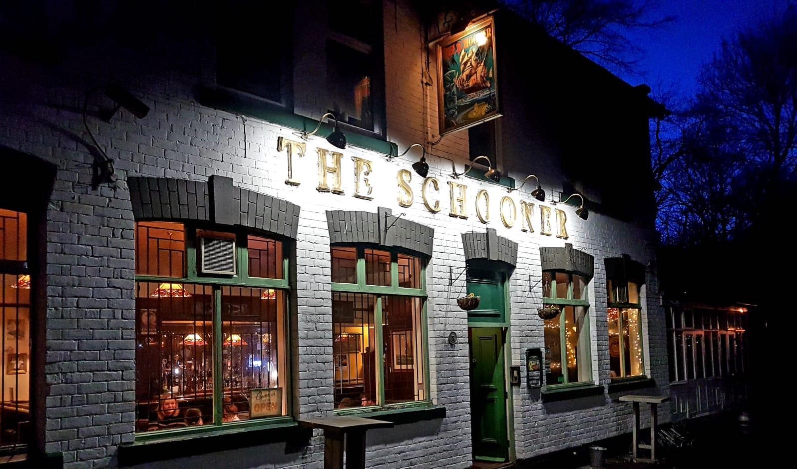 The Schooner Pub Exterior Night